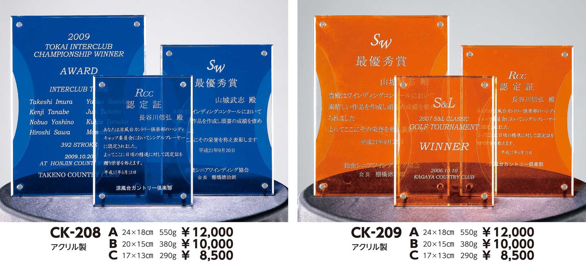 CK208、CK209