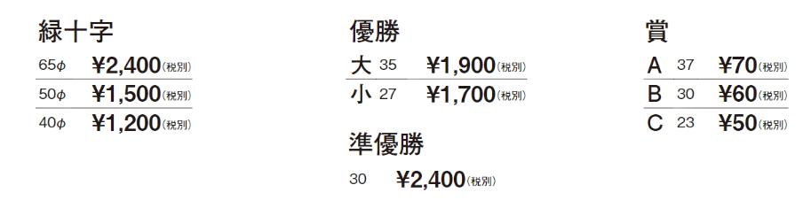 緑十字・優勝・準優勝・賞 レリーフ価格