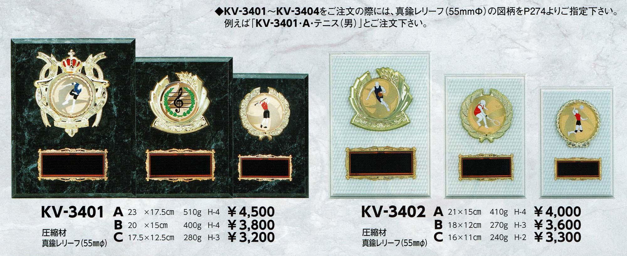KV3401、KV402